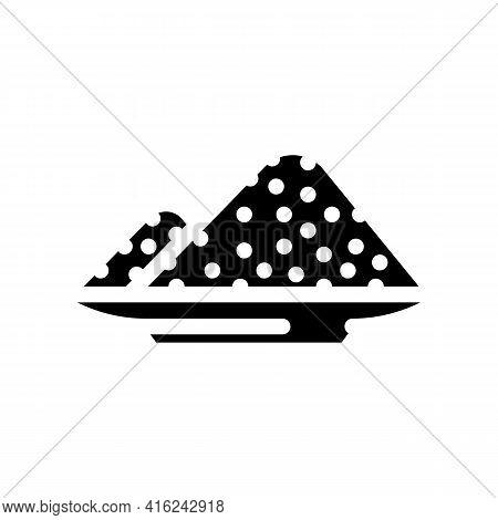 Sodium Nitrite Glyph Icon Vector. Sodium Nitrite Sign. Isolated Contour Symbol Black Illustration