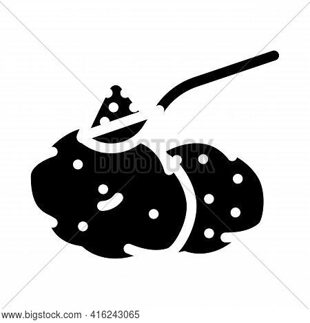 Starch Food Additives Glyph Icon Vector. Starch Food Additives Sign. Isolated Contour Symbol Black I