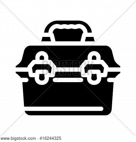Vintage Lunchbox Glyph Icon Vector. Vintage Lunchbox Sign. Isolated Contour Symbol Black Illustratio