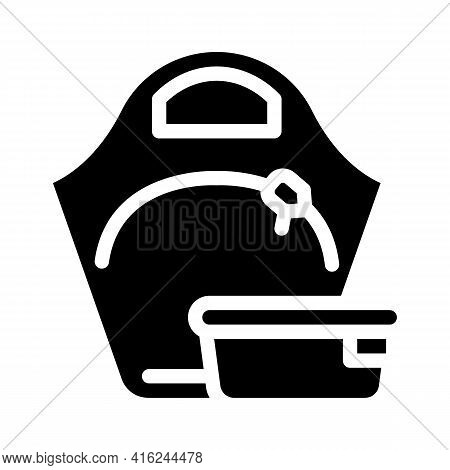 Women Lunchbox Glyph Icon Vector. Women Lunchbox Sign. Isolated Contour Symbol Black Illustration