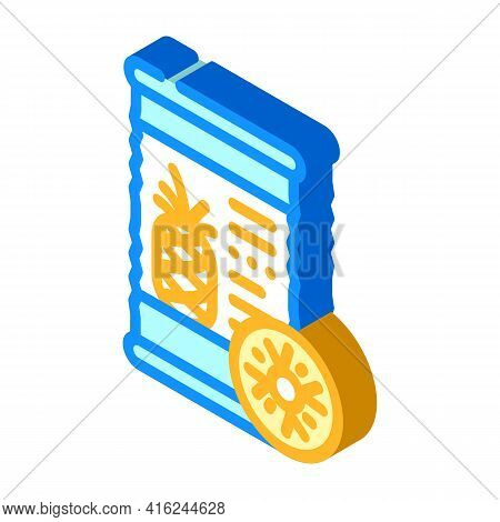 Pineapple Canned Food Isometric Icon Vector. Pineapple Canned Food Sign. Isolated Symbol Illustratio