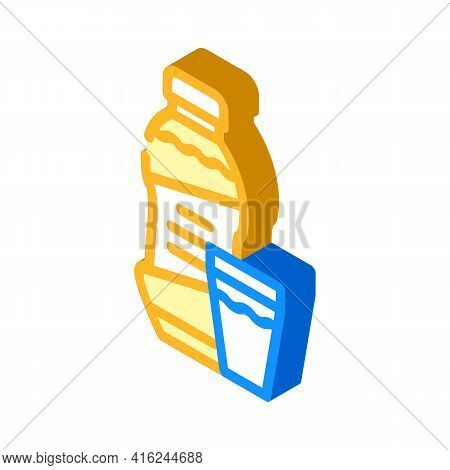 Syrup Canned Food Isometric Icon Vector. Syrup Canned Food Sign. Isolated Symbol Illustration