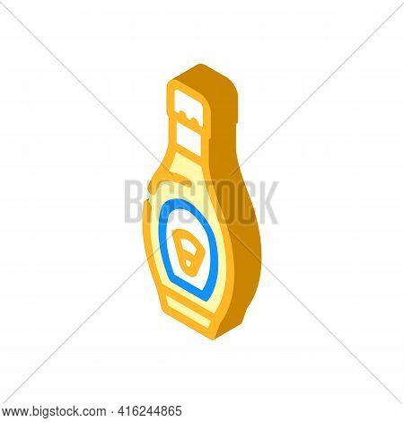 Corn Syrup Food Additives Isometric Icon Vector. Corn Syrup Food Additives Sign. Isolated Symbol Ill