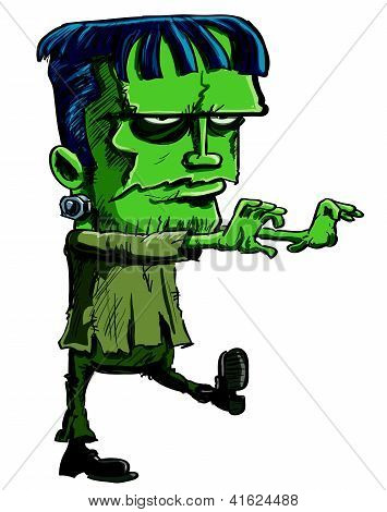 Cartoon illustration of the Frankenstein monster