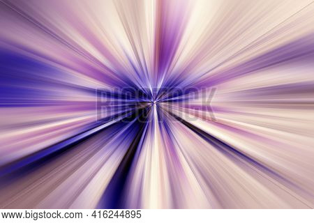 Abstract Surface Of Radial Blur Zoom Lilac,   Blue, Beige Tones. Abstract Lilac,   Blue Background W