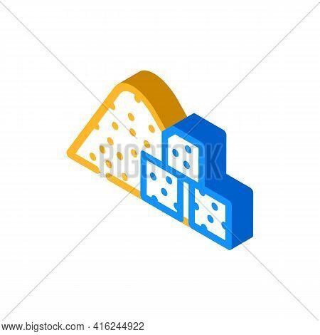 Sugar Food Additives Isometric Icon Vector. Sugar Food Additives Sign. Isolated Symbol Illustration