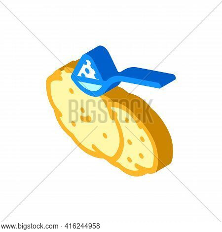 Starch Food Additives Isometric Icon Vector. Starch Food Additives Sign. Isolated Symbol Illustratio