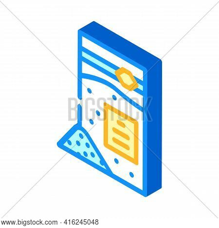 Sodium Benzoate Isometric Icon Vector. Sodium Benzoate Sign. Isolated Symbol Illustration