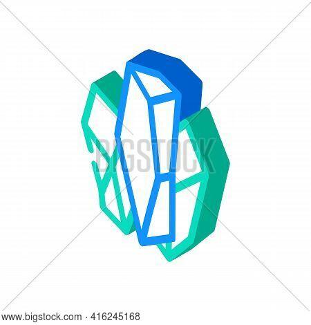 Monosodium Glutamate Msg E621 Isometric Icon Vector. Monosodium Glutamate Msg E621 Sign. Isolated Sy