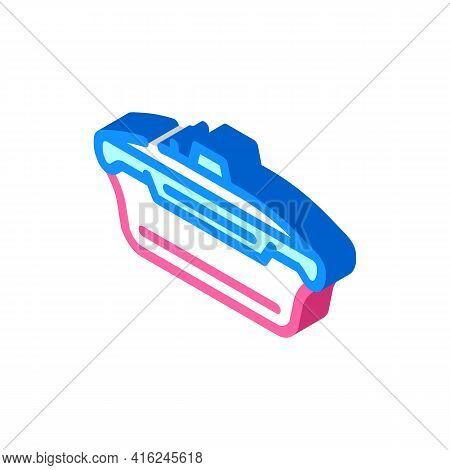 Vacuum Lunchbox Isometric Icon Vector. Vacuum Lunchbox Sign. Isolated Symbol Illustration