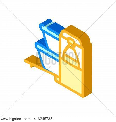 Carrying Bag Lunchbox Isometric Icon Vector. Carrying Bag Lunchbox Sign. Isolated Symbol Illustratio