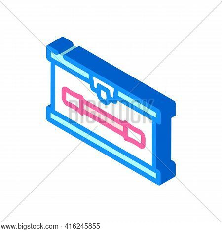 Lunchbox With Handle Isometric Icon Vector. Lunchbox With Handle Sign. Isolated Symbol Illustration