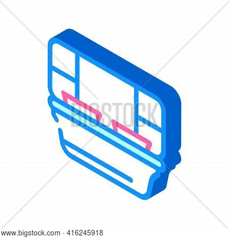 Sections Lunchbox Isometric Icon Vector. Sections Lunchbox Sign. Isolated Symbol Illustration