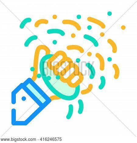 Holi Color Festival Event Color Icon Vector. Holi Color Festival Event Sign. Isolated Symbol Illustr
