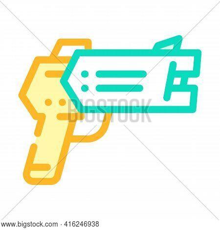 Stun Gun Protest Meeting Color Icon Vector. Stun Gun Protest Meeting Sign. Isolated Symbol Illustrat
