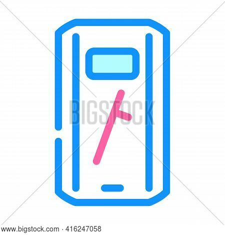 Shield And Baton Protest Meeting Color Icon Vector. Shield And Baton Protest Meeting Sign. Isolated