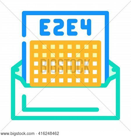 Correspondence Chess Color Icon Vector. Correspondence Chess Sign. Isolated Symbol Illustration