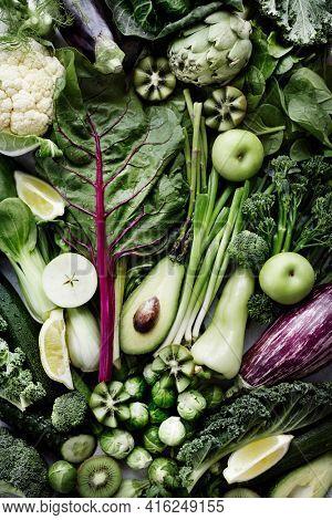 Fresh vegetables flat lay healthy lifestyle