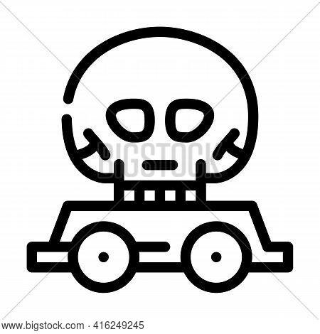 Day Of Dead Event Line Icon Vector. Day Of Dead Event Sign. Isolated Contour Symbol Black Illustrati