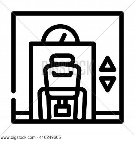 Lift Inclusive Life Line Icon Vector. Lift Inclusive Life Sign. Isolated Contour Symbol Black Illust