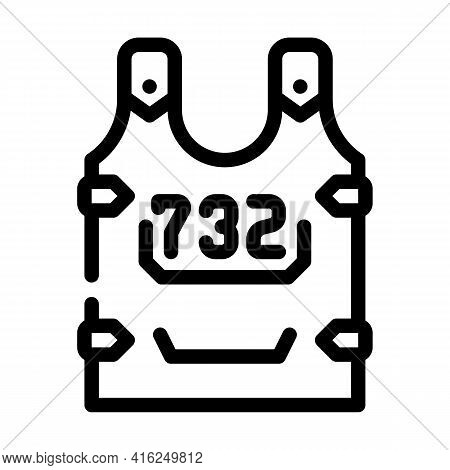 Body Armor Protest Meeting Line Icon Vector. Body Armor Protest Meeting Sign. Isolated Contour Symbo