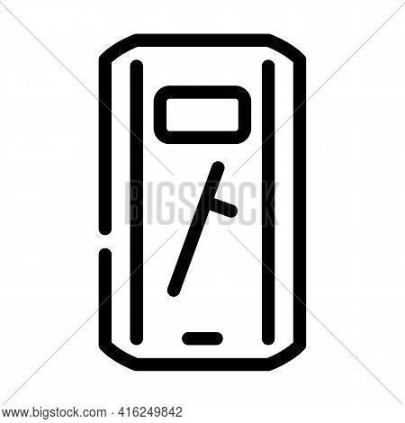 Shield And Baton Protest Meeting Line Icon Vector. Shield And Baton Protest Meeting Sign. Isolated C