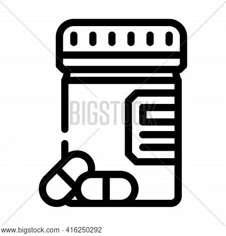 Pills Package Line Icon Vector. Pills Package Sign. Isolated Contour Symbol Black Illustration