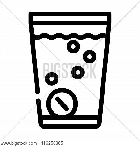 Water Soluble Pills Line Icon Vector. Water Soluble Pills Sign. Isolated Contour Symbol Black Illust