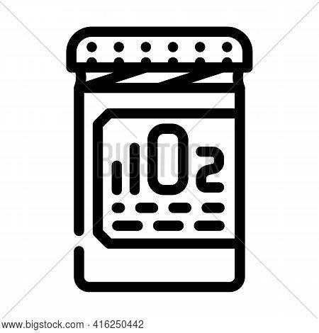 Oxygen Pills For Restoration And Acceleration Metabolism Line Icon Vector. Oxygen Pills For Restorat