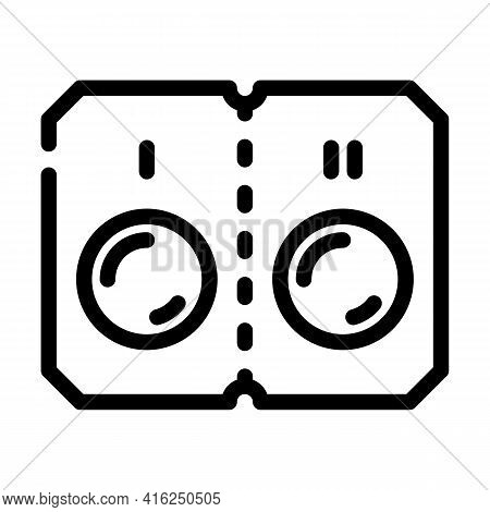 Pills That Divided Into Two Doses Line Icon Vector. Pills That Divided Into Two Doses Sign. Isolated