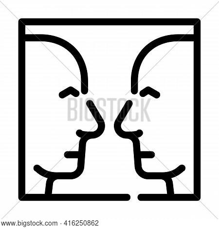 Search For Images Line Icon Vector. Search For Images Sign. Isolated Contour Symbol Black Illustrati