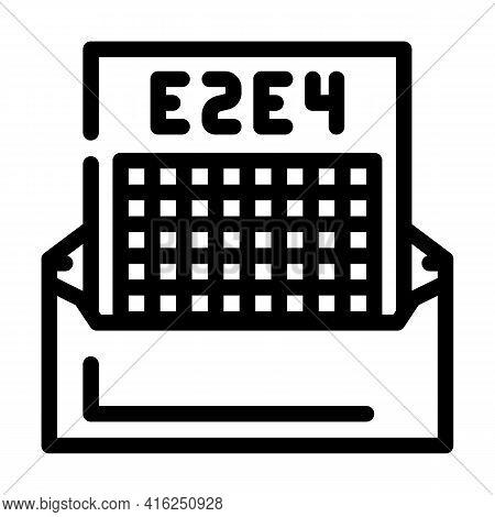 Correspondence Chess Line Icon Vector. Correspondence Chess Sign. Isolated Contour Symbol Black Illu