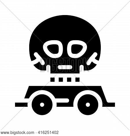 Day Of Dead Event Glyph Icon Vector. Day Of Dead Event Sign. Isolated Contour Symbol Black Illustrat