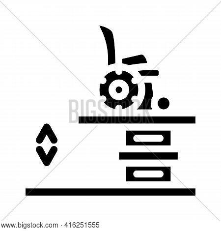 Lift Equipment For Inclusive Life Glyph Icon Vector. Lift Equipment For Inclusive Life Sign. Isolate