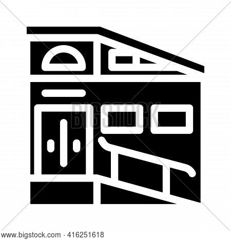Building Ramp Glyph Icon Vector. Building Ramp Sign. Isolated Contour Symbol Black Illustration