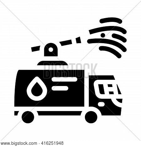 Water Jet Protest Meeting Glyph Icon Vector. Water Jet Protest Meeting Sign. Isolated Contour Symbol
