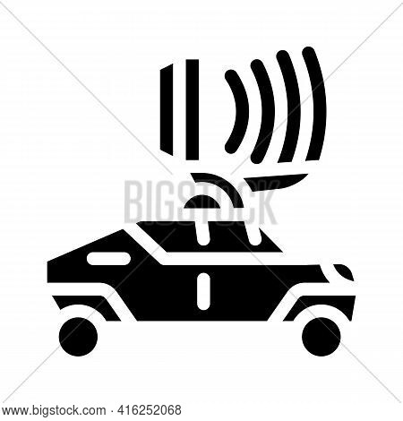 Microwave Gun Glyph Icon Vector. Microwave Gun Sign. Isolated Contour Symbol Black Illustration