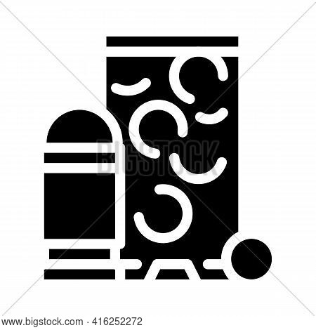 Rubber Bullets Protest Meeting Glyph Icon Vector. Rubber Bullets Protest Meeting Sign. Isolated Cont