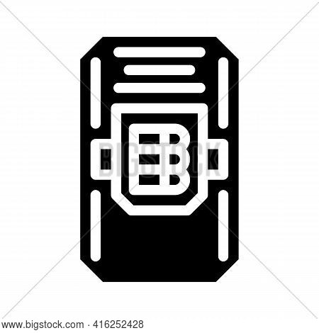 Police Shield With Cartridges Protest Meeting Glyph Icon Vector. Police Shield With Cartridges Prote