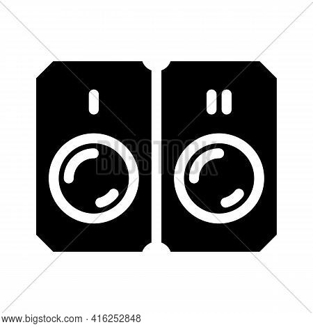 Pills That Divided Into Two Doses Glyph Icon Vector. Pills That Divided Into Two Doses Sign. Isolate