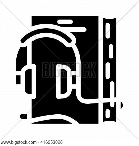 Audiobook For Self Study Glyph Icon Vector. Audiobook For Self Study Sign. Isolated Contour Symbol B