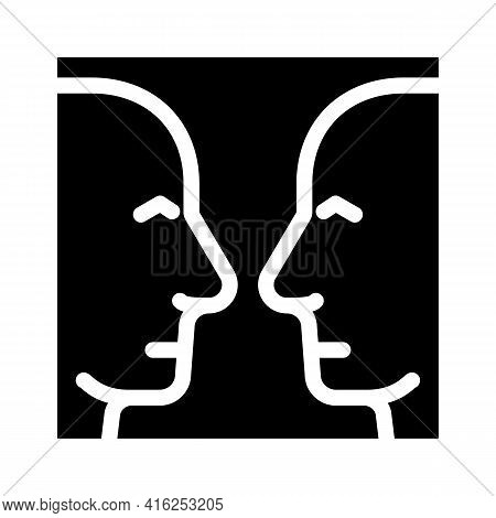 Search For Images Glyph Icon Vector. Search For Images Sign. Isolated Contour Symbol Black Illustrat