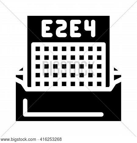 Correspondence Chess Glyph Icon Vector. Correspondence Chess Sign. Isolated Contour Symbol Black Ill