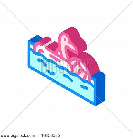 Pool Party Event Isometric Icon Vector. Pool Party Event Sign. Isolated Symbol Illustration