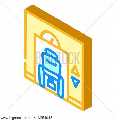 Lift Inclusive Life Isometric Icon Vector. Lift Inclusive Life Sign. Isolated Symbol Illustration
