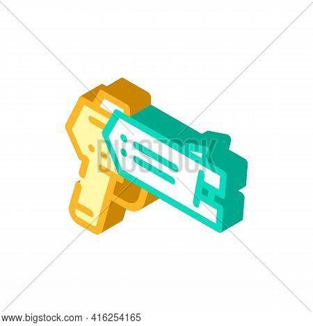 Stun Gun Protest Meeting Isometric Icon Vector. Stun Gun Protest Meeting Sign. Isolated Symbol Illus