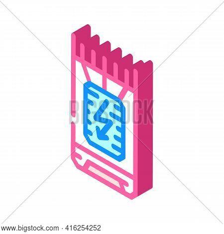 Bullet Stun Gun Isometric Icon Vector. Bullet Stun Gun Sign. Isolated Symbol Illustration