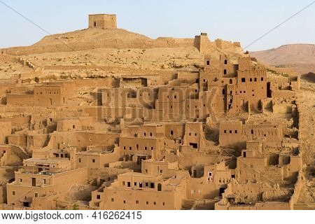 Aït-ben-haddou Is A Fortified City, Or Ksar, Along The Former Caravan Route Between The Sahara And M