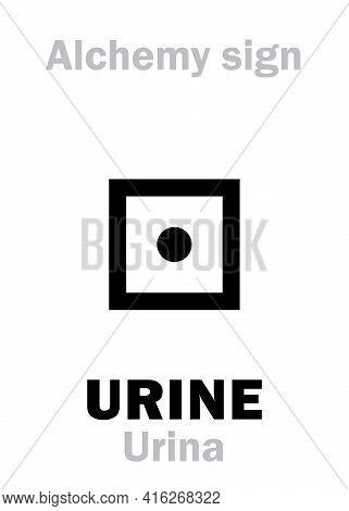 Alchemy Alphabet: Urine (urina, Urea). Carbamide, Carbonyl Diamide: Chemical Formula=[ch4n2o]=[co(nh