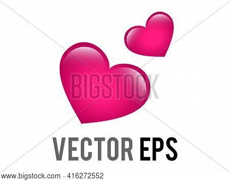 The Isolated Vector Two Revolving Hearts Switching Places Icon With Circular Line